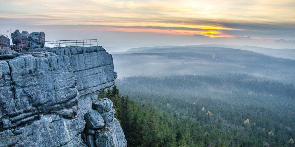 Szczeliniec Wielki in the Stołowe Mountains