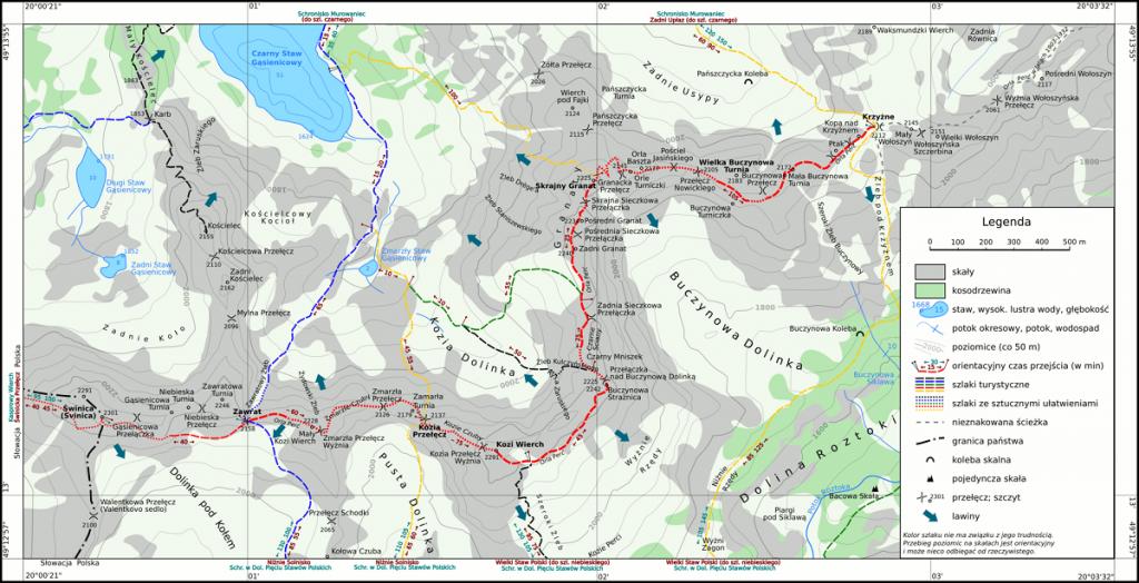 Orla Perć Map