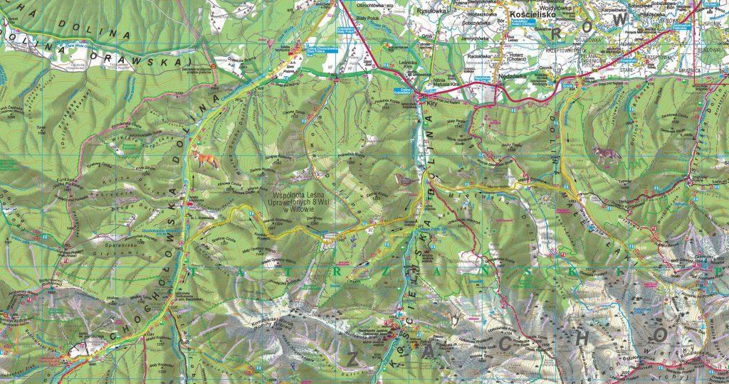Chochołowska Valley - map