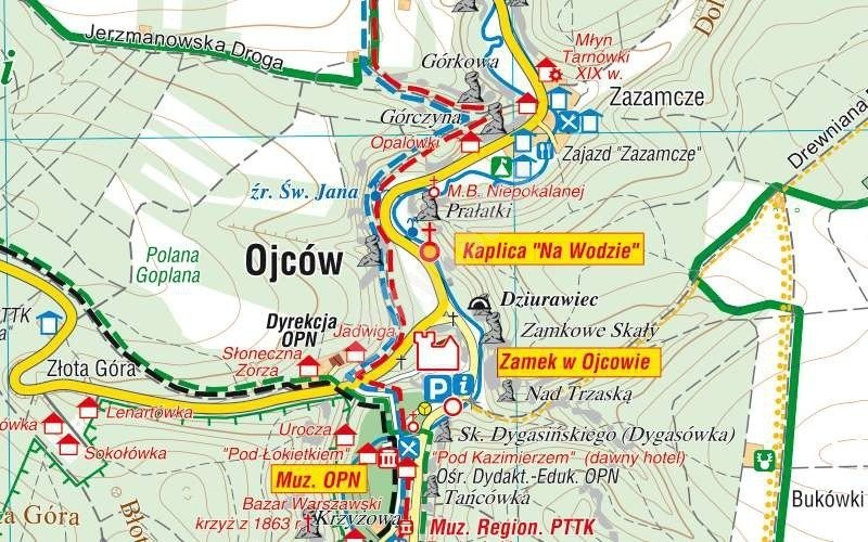 Map of Ojców National Park