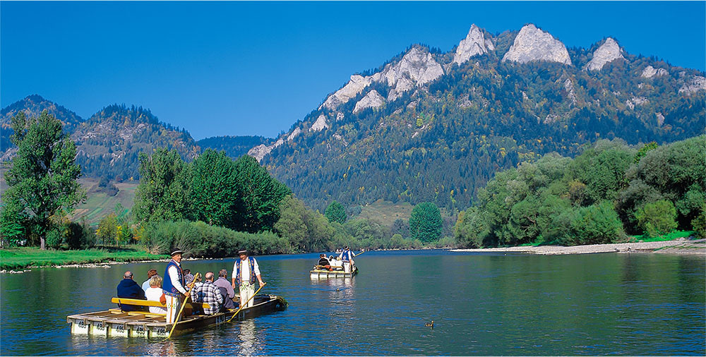 rafting on the Dunajec river