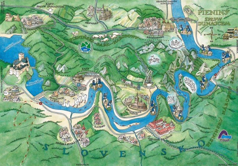 Spływ Dunajcem Mapa