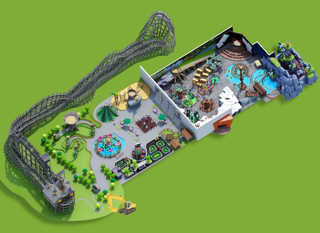 Majaland Kownaty mapa parku