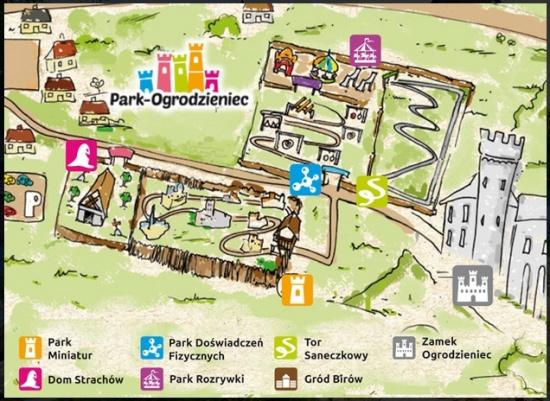 Ogrodzieniec castle map